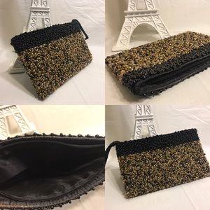 Handbags - 👛 Handmade micro-beaded evening wristlet/ clutch